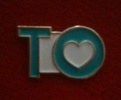 "My ""I Love TO"" lapel pin from the Toronto Community Foundation"